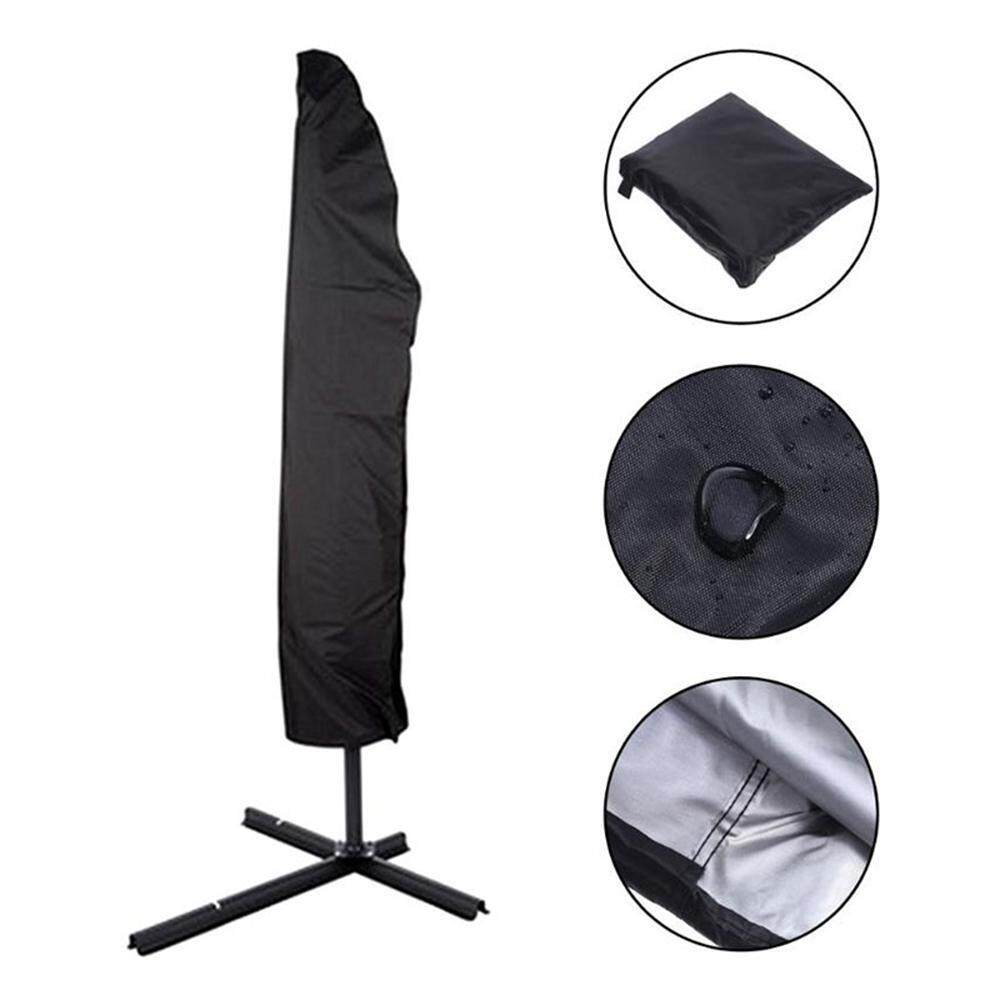 Treeone Umbrella Cover, 420D Patio Umbrella Covers Parasol Outdoor Offset Covers with Zipper, Waterproof and Dustproof Parasol Cover 3 Sizes for 6ft to 13ft Outdoor Market Umbrellas