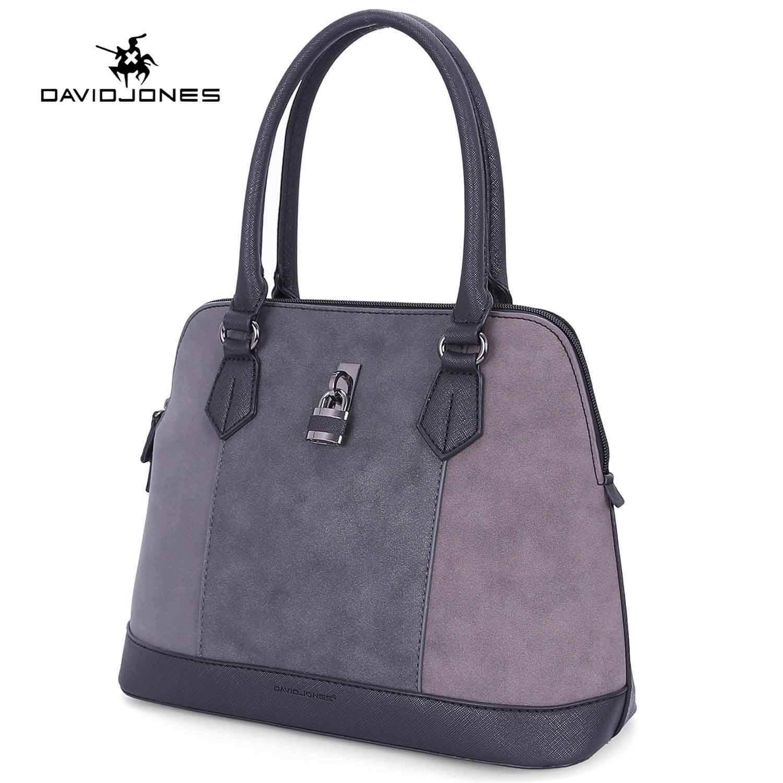 c6d1a9f953c DAVIDJONES women handbag pu leather female crossbody bag small lady  patchwork shoulder bag girl casual messenger