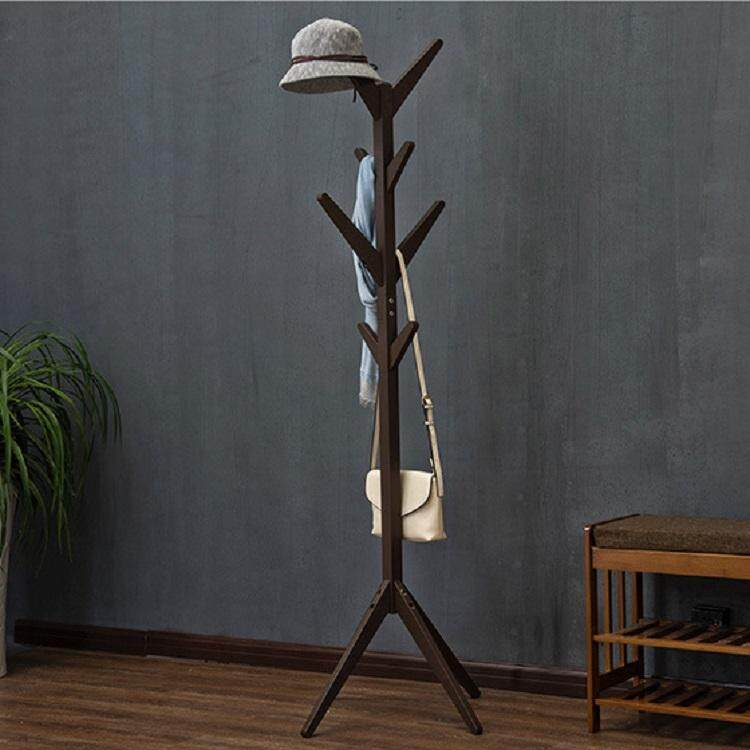 Coat Rack /  Coat Tree / Wood Standing Coat Tree For Clothes By Olive Al Home