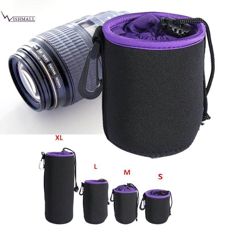 S Size Neoprene Lens Soft Protector Pouch Bag For Dslr Camera Universal By Wishmall.