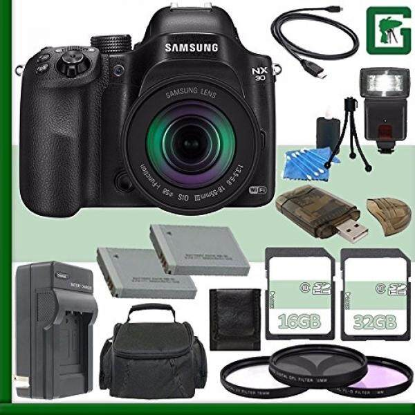 Samsung NX30 Mirrorless Digital Camera with 18-55mm f/3.5-5.6 OIS Lens + 16GB + 32GB Greens Camera Bundle 7