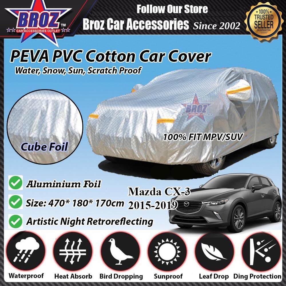Mazda CX-3 Car Body Cover PEVA PVC Cotton Aluminium Foil Double Layers - MPV