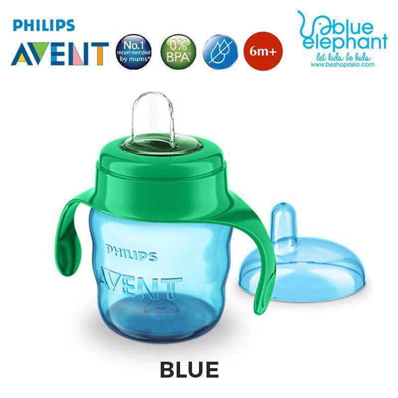 Detail Gambar Philips Avent Easy Sip Soft Spout Cup 200ml/7oz with Handle (1 Pack) SCF551/00 Terbaru