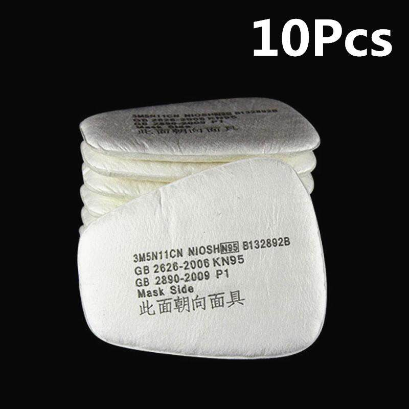10pcs Chemical Anti-Dust Paint Respirator Welding Safety Mask Industrial Gas Mask Activated Carbon Filters