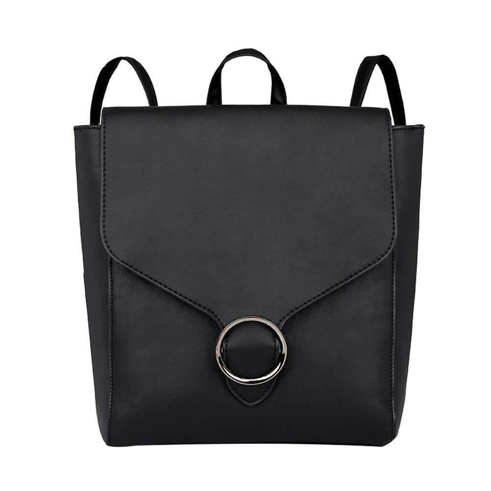 Domybestshop Lovely Leather Women Retro Handbags Backpacks Teen Casual Pure Shoulder Schoolbags By Domybestshop.
