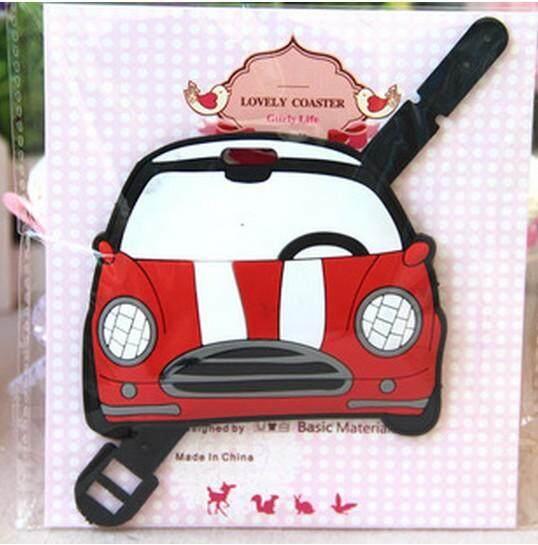 Cute Red Mini Cooper Luggage Tag