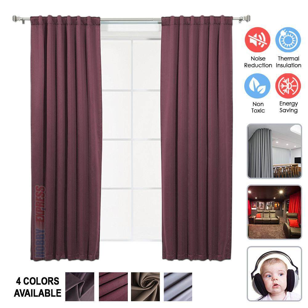 Hobby Express 1pc 1.3 X 1.8 M Burgundy Soundproof Curtain Darkening Sound Absorption Thermal Insulation HE1145 - intl