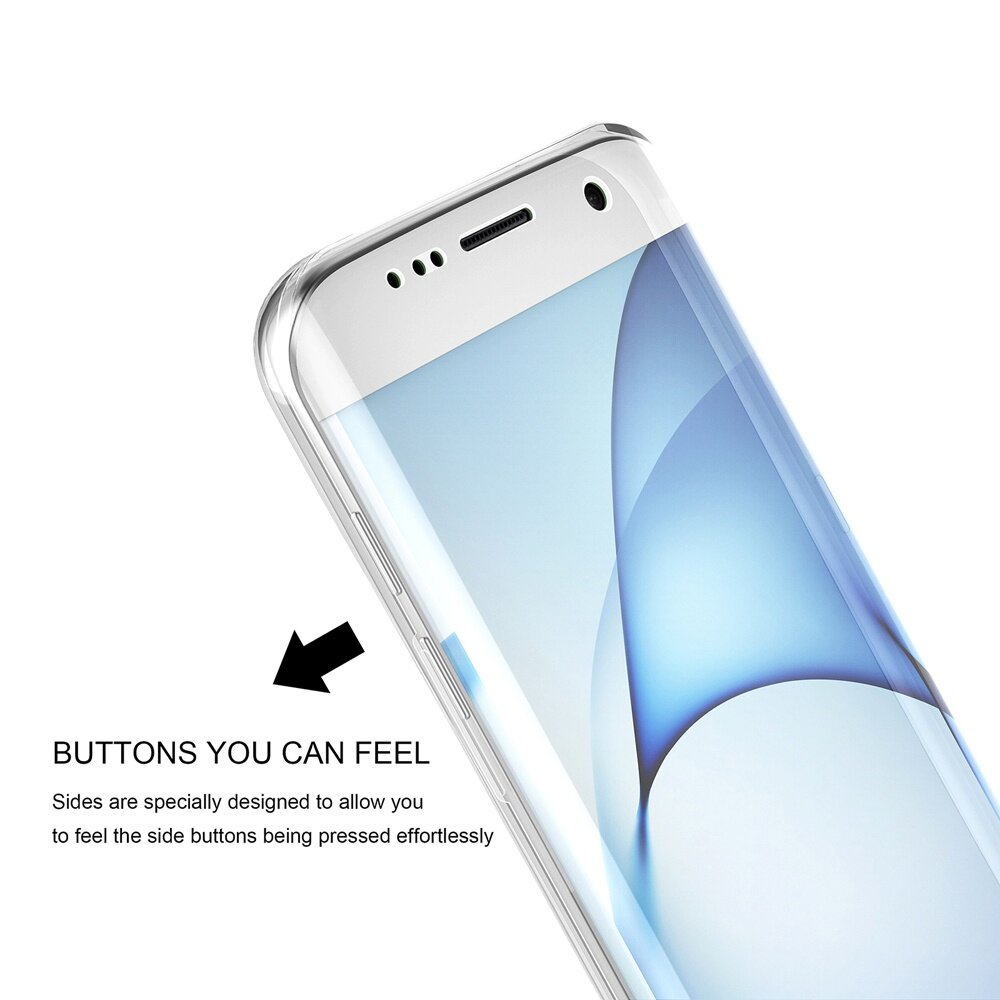 Roybens 360 Degree Full Body Protect Soft TPU Case Front + BackCover For Samsung Galaxy S7