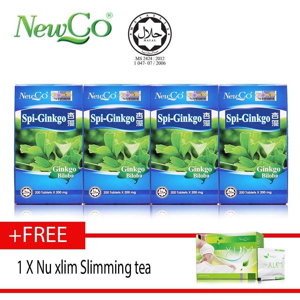 Newco Spirulina Ginkgo X4 X 200 tablets FREE nu xlim slimming tea