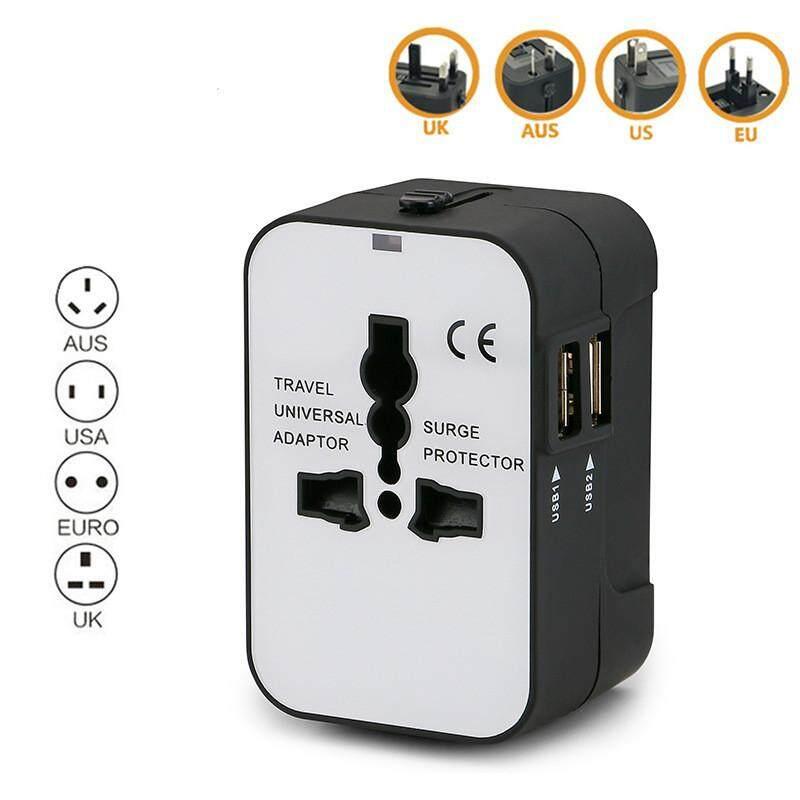 Panda Online Universal Di Seluruh Dunia Colokan Portabel Dinding Adaptor AC Stopkontak Konversi Pengisian USB Ganda Pengisi Daya dengan Port untuk USA EU UK Aus Laptop iPad