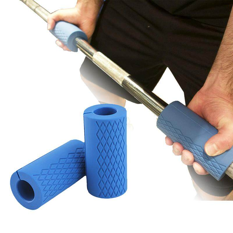 1 Pair Barbell Dumbbell Grips Thick Bar Handles Silicone Anti-Slip Protect Pad Pull Up Weightlifting Fat Grip Support By Daydaysmile.