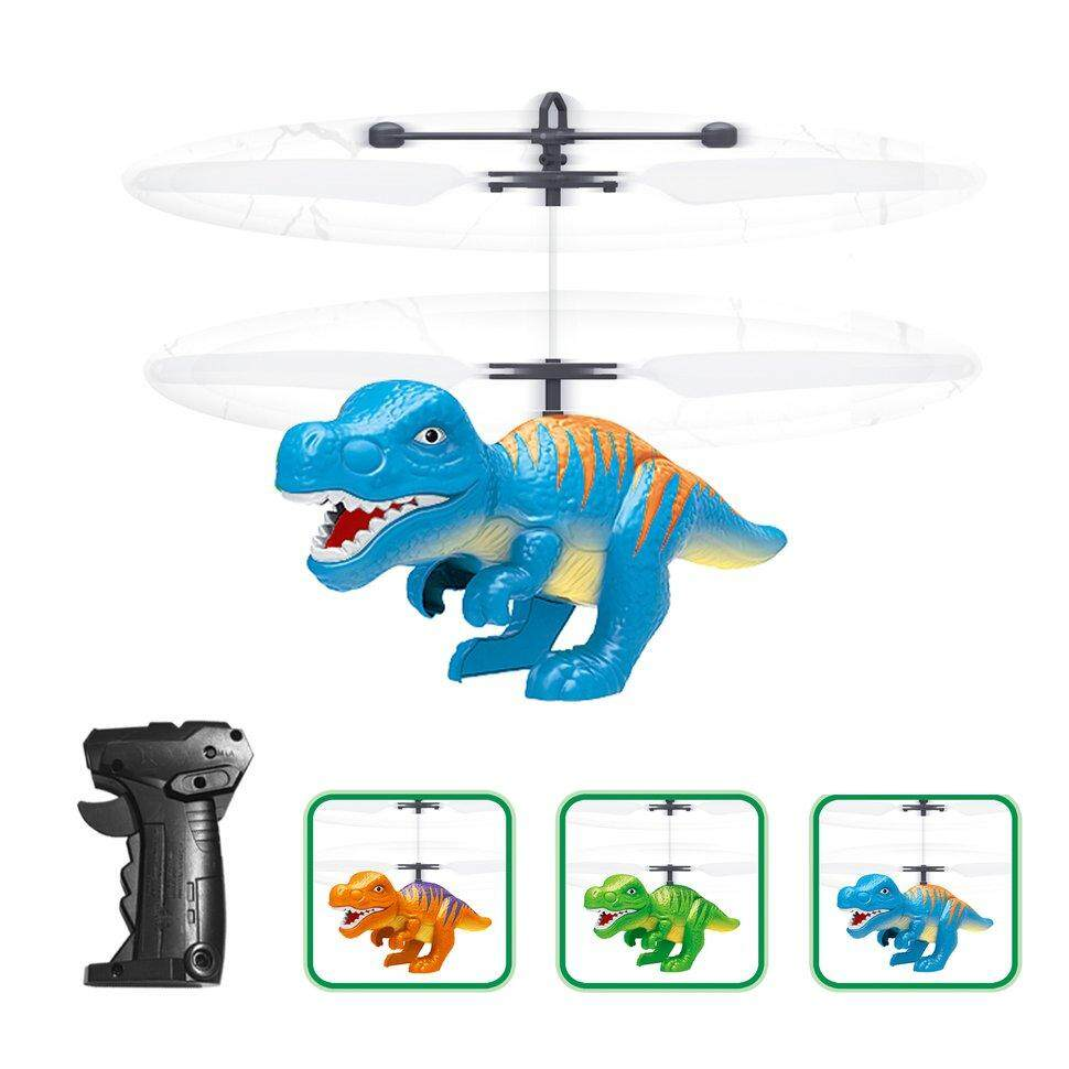 Ge Electric RC Flying Toy Infrared Sensor Dinosaur Helicopter LED Flash Lighting