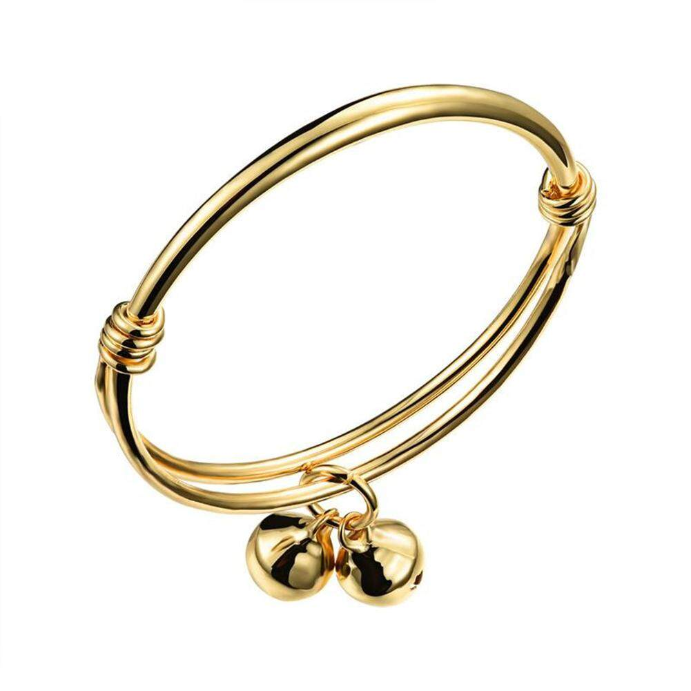 Cute Simple Bell Bracelet Adjustable Baby Kids Hand Chain By Star Mall.