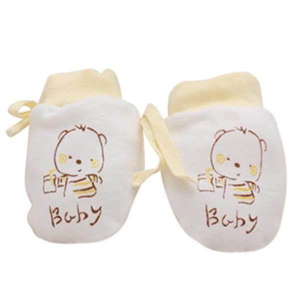 1 คู่เด็กทารกน่ารักถุงมือป้องกันรอยขีดข่วนแรกเกิดถุงมือเชือก By Questre.
