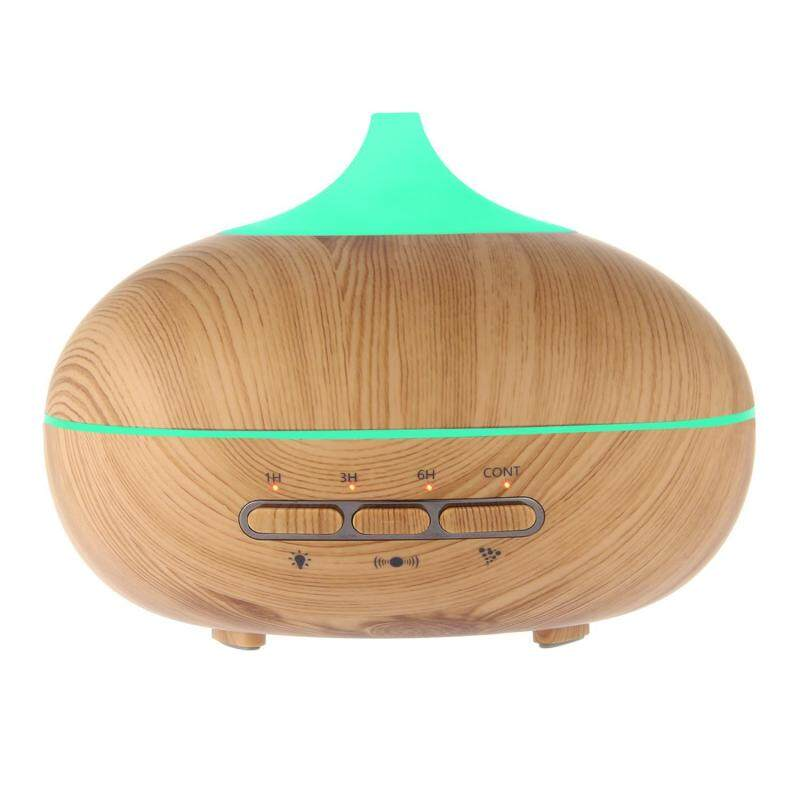 HONGHUI 300ml Mini Wooden Humidifier Essential Oil Diffuser, Pawaca Humidifier With 7 Color Lights For Home And Office(uk Plug) - intl Singapore
