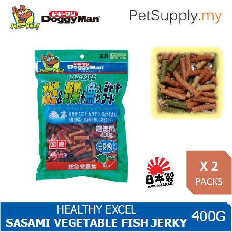 Doggyman Dog Snack Healthy Excel Sasami Vegetable & Fish Jerky Food 400g X 2 Packs By Pet Supply.