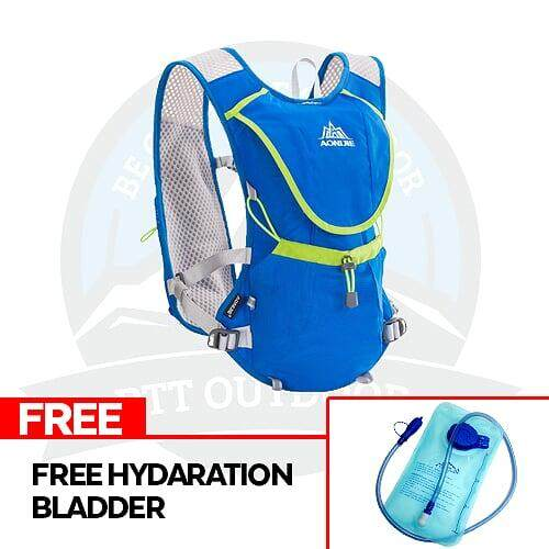 [READY STOCK] AONIJIE 8L Running Vest Backpack Sports Camping Hydration Water Bladder Bag Black