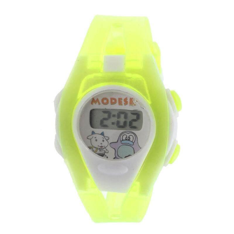 VRE Whatch Toko Murid Laki-laki Perempuan Waktu Olahraga LCD Digital Elektronik Jam Tangan Hijau