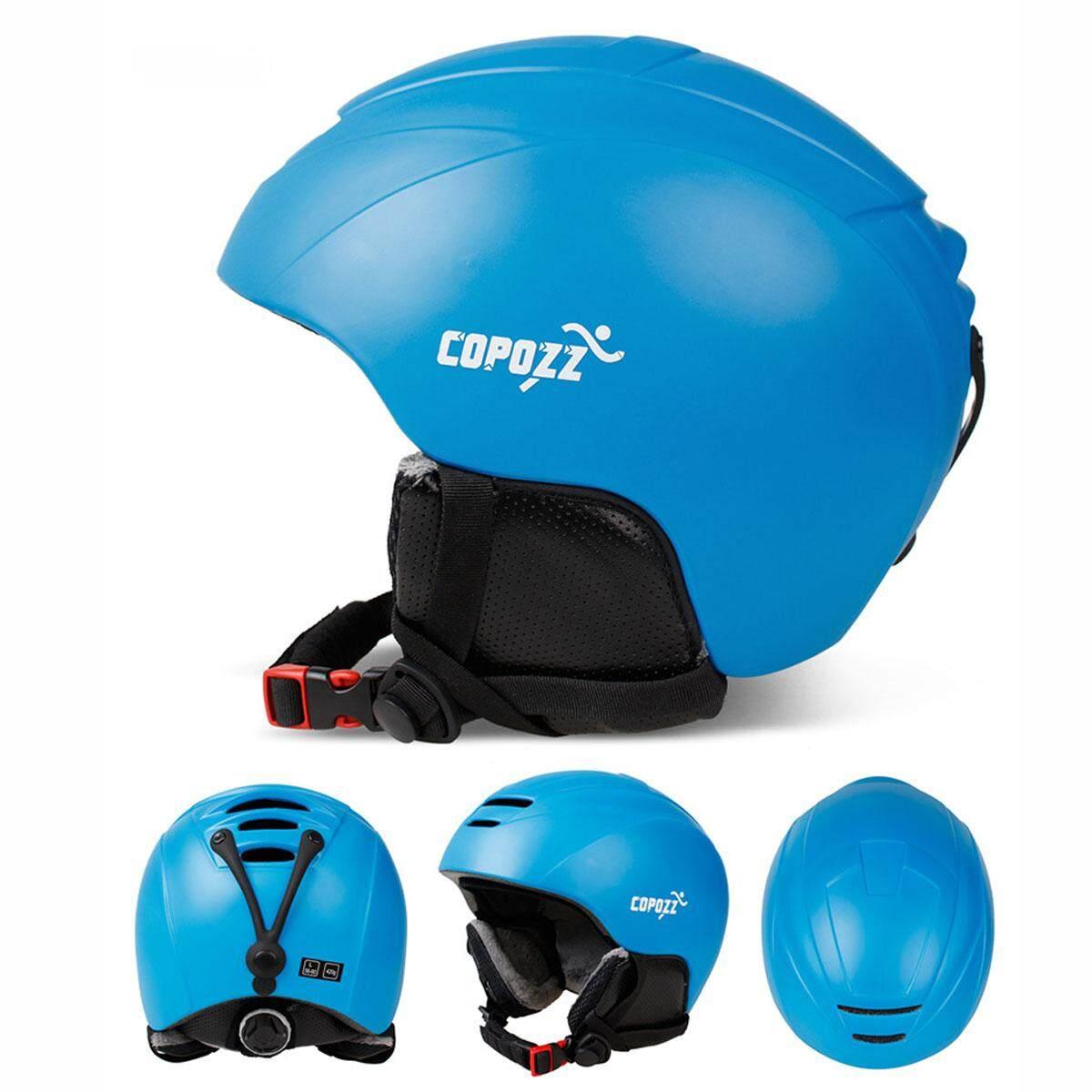 Copozz Ski Helmet Integrally-Molded Snowboard Helmet Men Women Skating Skateboard Skiing Helmet (blue).