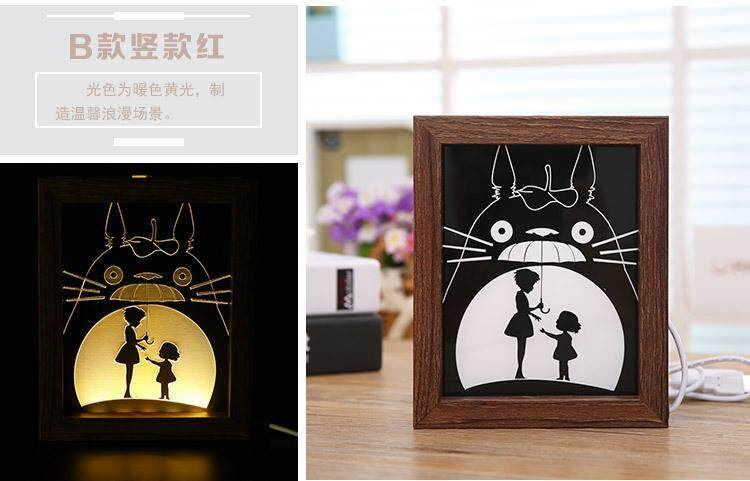 Totoro Photo Frame With Night Lamp 2