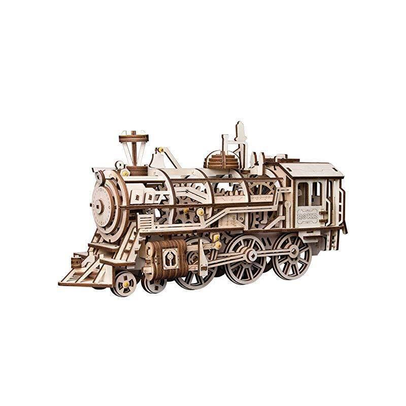 ROKR Locomotive Mechanical Wooden Gear 3D Puzzle Kit