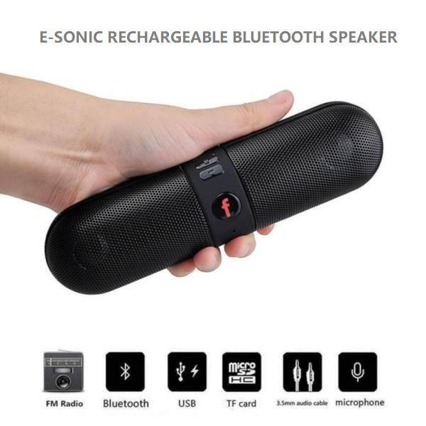 MEGA SALES E-SONIC Rechargeable Portable Capsule Wireless Bluetooth Stereo Speaker For Smart Phone Laptop  [Florasun] Malaysia