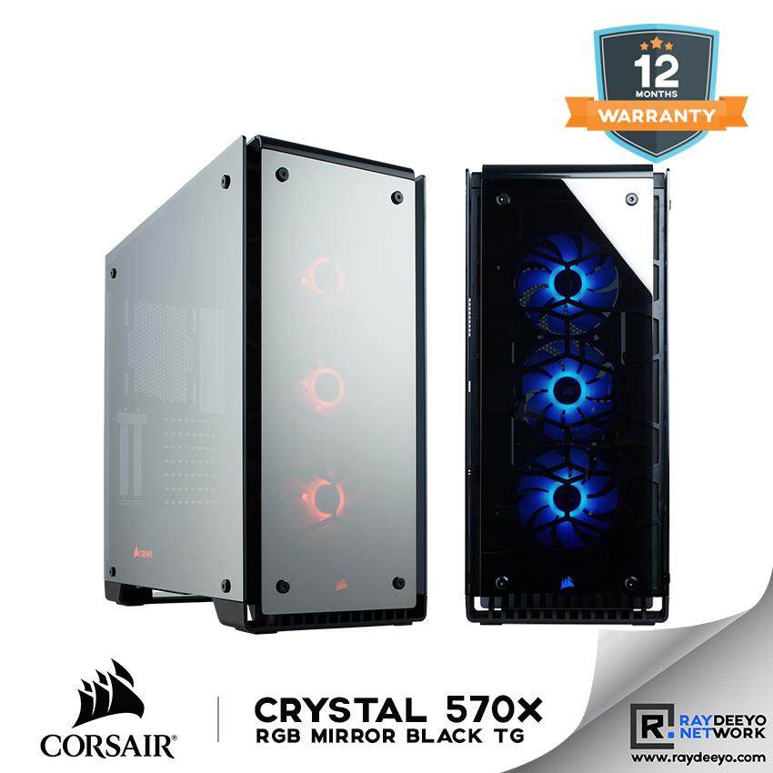 Corsair Crystal 570X RGB Mirror Black Tempered Glass Case [Four Mirrored Finish Tempered Glass Panels] Malaysia