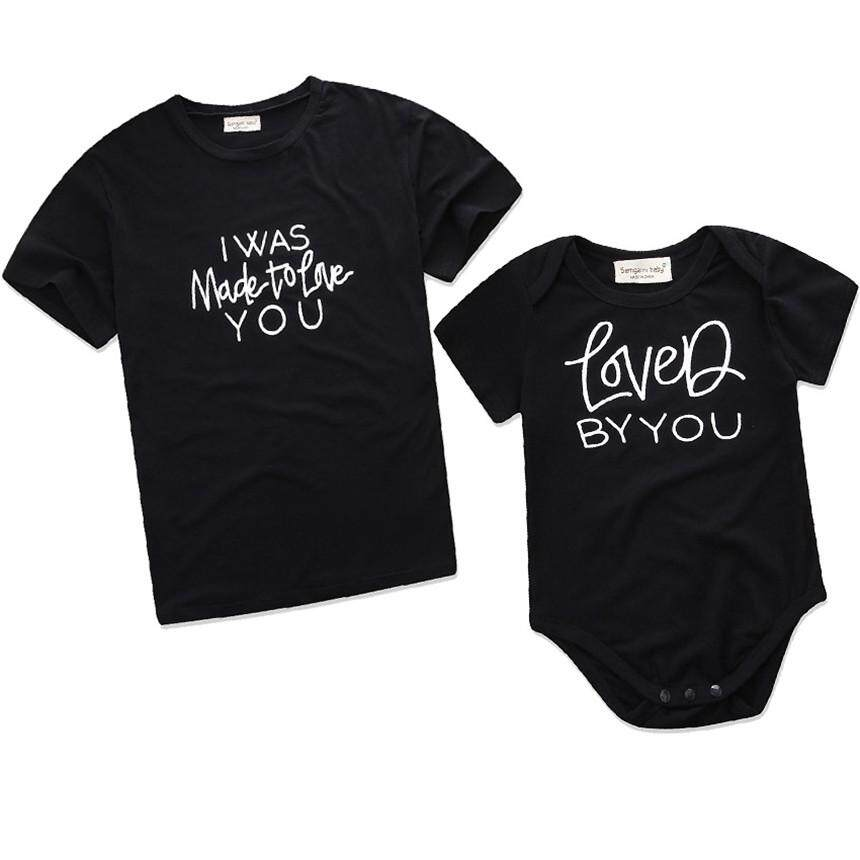 Jessica Secret Mommy and Me Clothes Summer Black Cotton T-shirt Baby girl  clothes Romper 9c8ea66b8a64