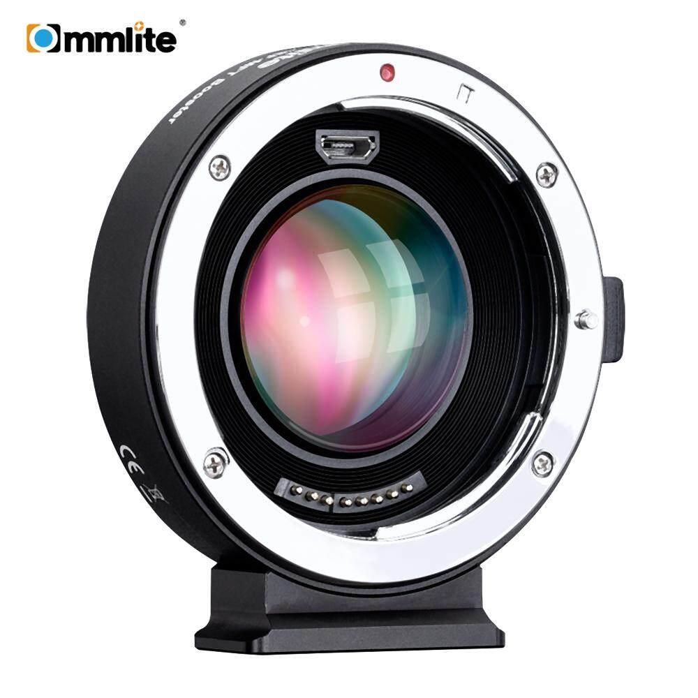 Commlite AEF-MFT Booster Auto Fokus AF Lensa Adaptor Dudukan 0.71X Focal Reducer Memperbesar Aperture USB Update untuk Canon Lensa EF untuk m4/3 Kamera untuk Panasonic DMC-DX85/GH4/GH5/GF1 UNTUK Olympus E-M5/E-M10/E-PL1 /E-M10II/PEN-F/E-PL3 Kamera-Intl
