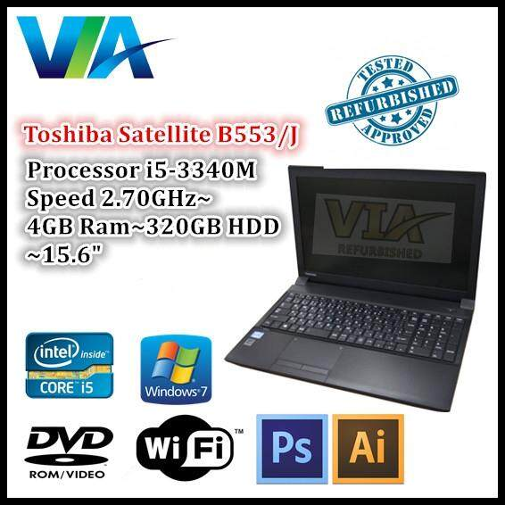 Refurbished Laptop Toshiba B553/J Core i5~4GB~320GB~Win7 Pro Malaysia