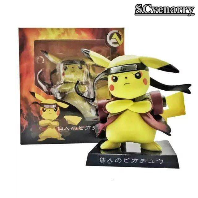 Anime Ootutuki Hagoromo Gaya Pikachu Uzumaki Naruto Rikudousennin Mainan Modo Koleksi Figur Model 15 Cm PVC
