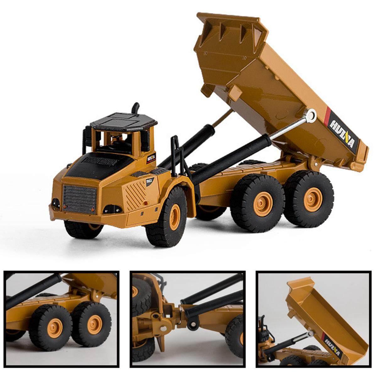 Huina 7713-1 1/50 Skala Paduan Pompa Hidrolik Model Truk Teknik Mainan Menggali
