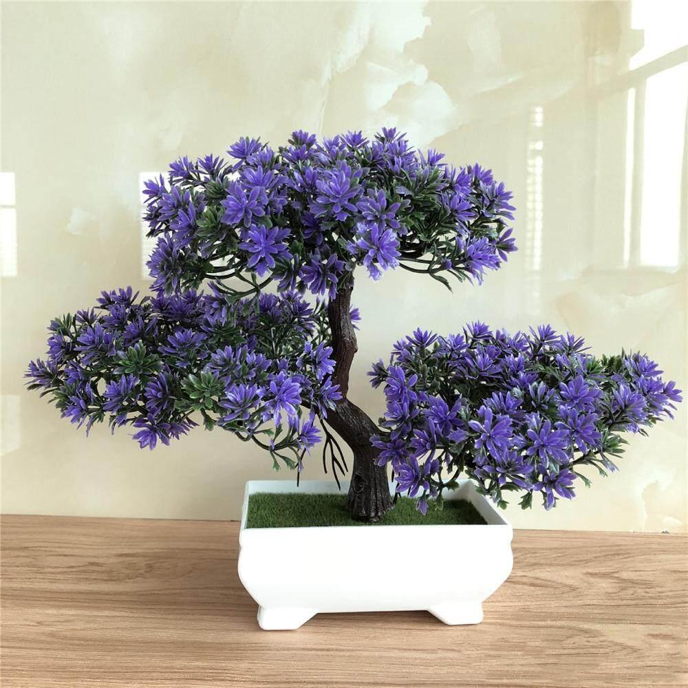 Whyus Palsu Tanaman Buatan Bonsai Pot Tanaman Mini Simulasi Pohon Pinus  Dekorasi Rumah 4d13f3af02