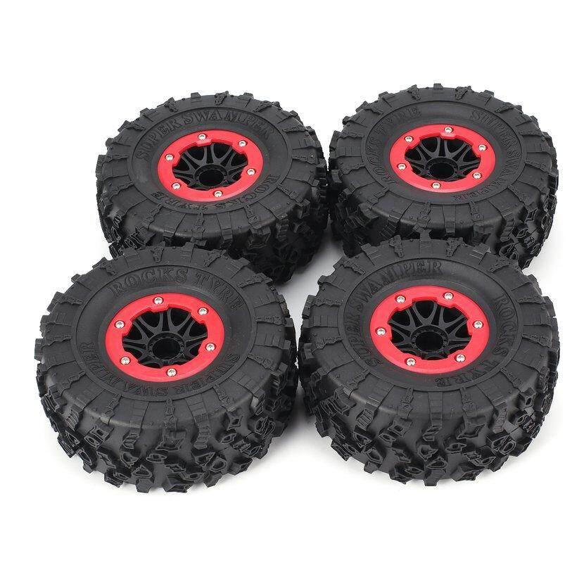 AUSTAR 4pcs 2,2 inci 130mm Rim karet ban Ban roda untuk 1/10 RC mobil