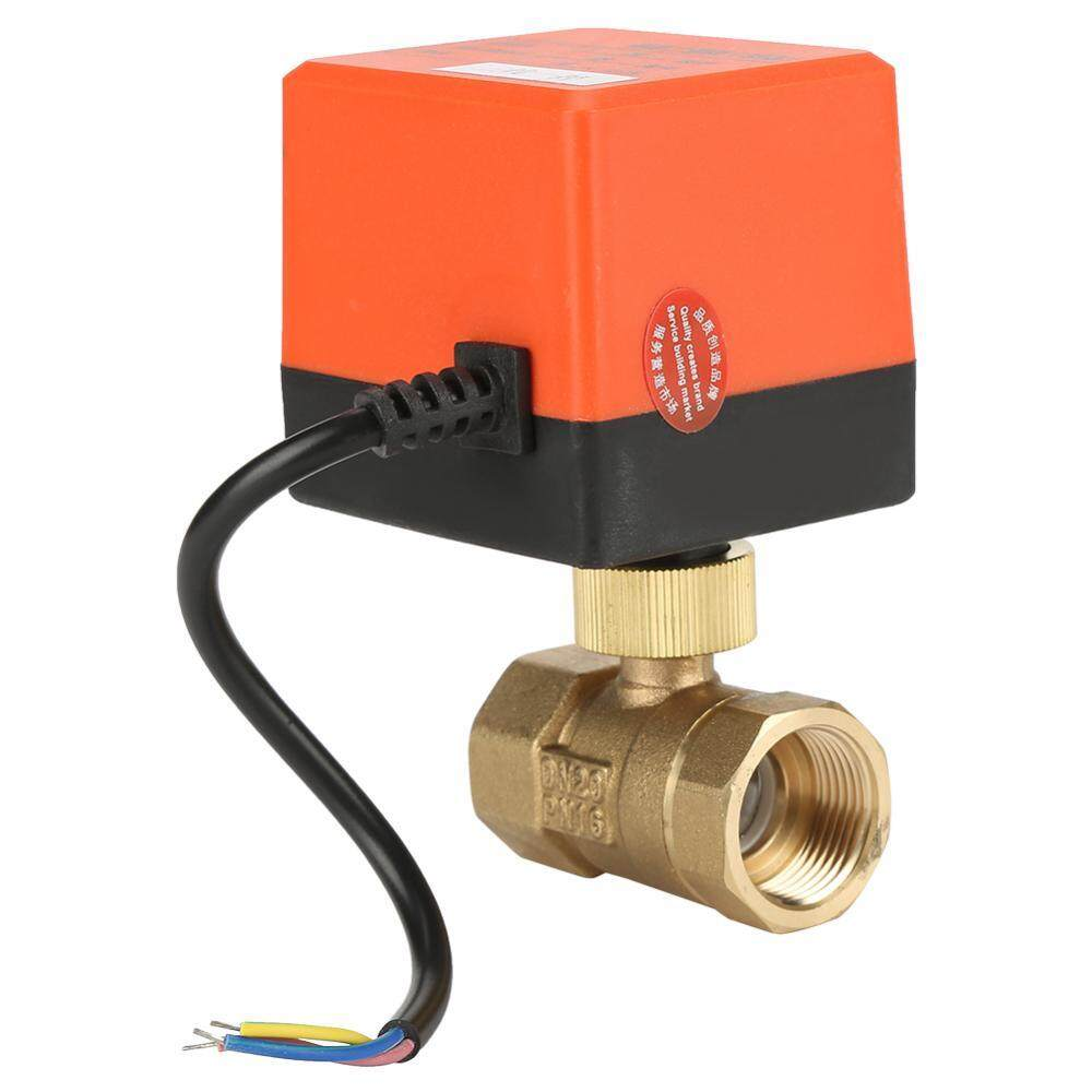 Electric Motorized Brass Ball Valve DN20 AC 220V 2 Way 3-Wire with ActuatorTHB486 ·