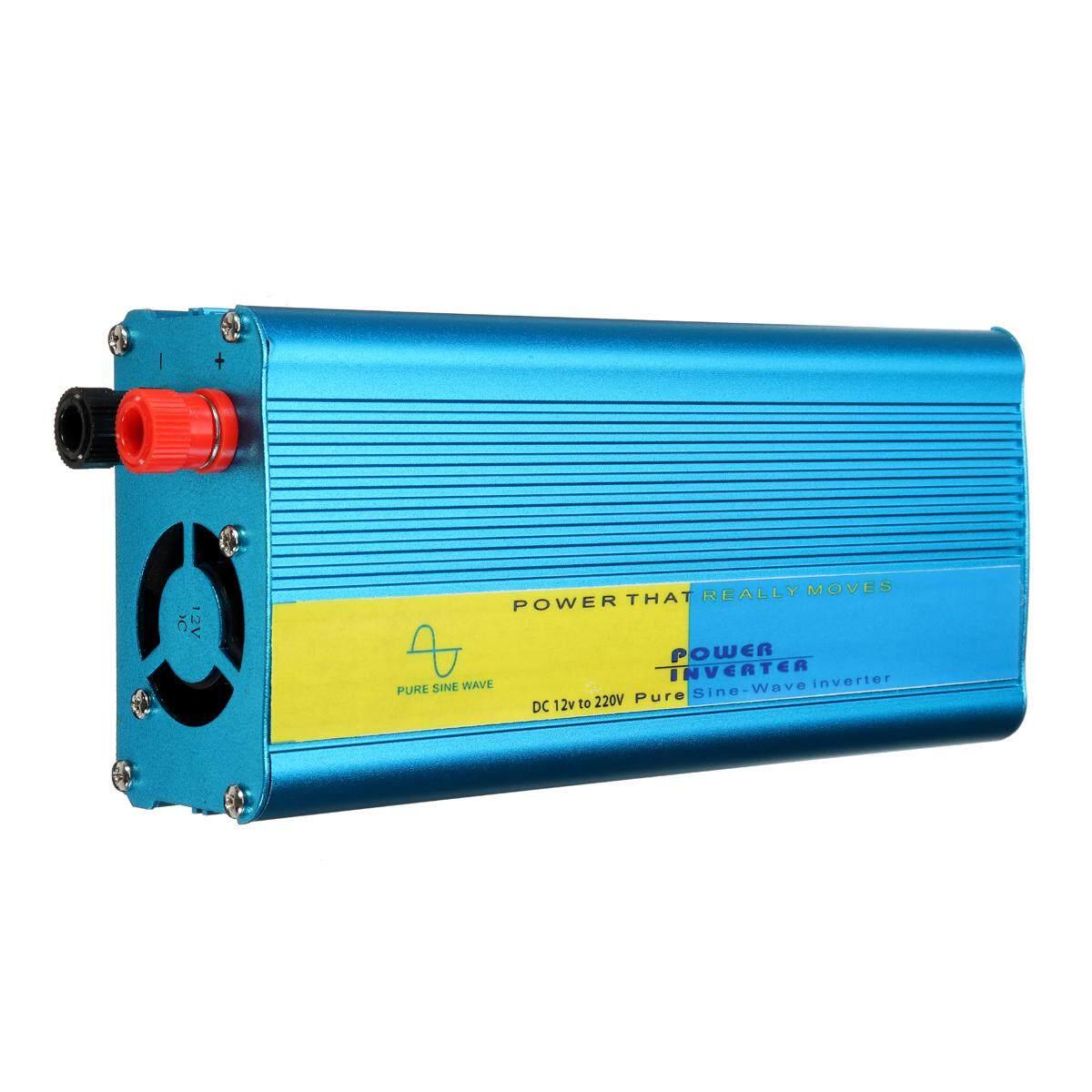 500 W/1200 W Pure Sine Wave Converter Pengalih Daya Caravan DC 12 V untuk AC 220 V