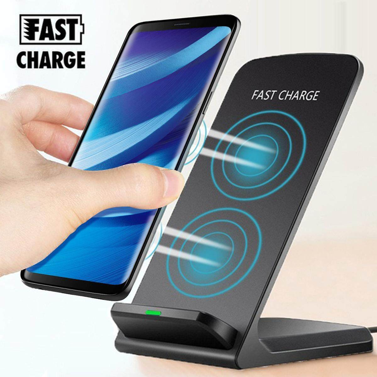 New Qi Fast Wireless Charger Quick Charge For Samsung Galaxy S9 / S9 Plus / Note 8 / S8 / S8 Plus / S7 / S7 Edge / Note 5 / S6 / S6 Edge / S6 Edge Plus / iPhone X / 8 / 8 Plus Black - intl