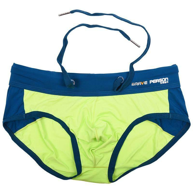 Brave Person เซ็กซี่บิกินี่กางเกงนักมวยเป้าตุงกางเกงลูกไม้ Jacquard กางเกงกางเกงยีนส์สำหรับ Man สีเขียว S - Intl By Fastour.