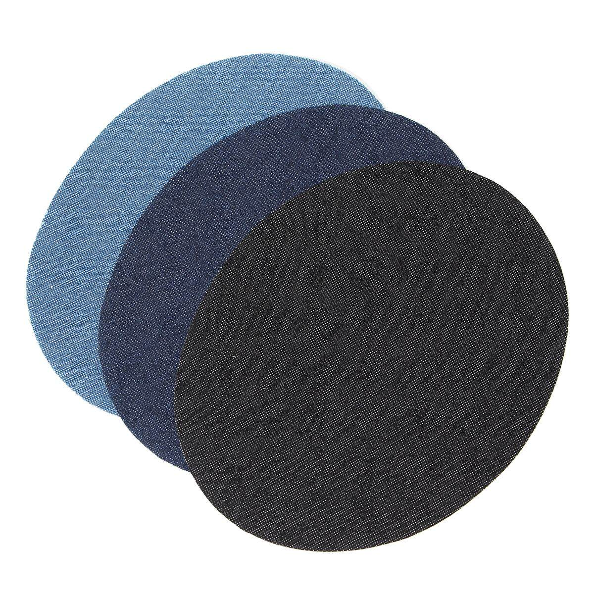 12 Pcs Aneka Besi Di Jeans Denim/Kain Kepar/Katun Patches Perbaikan Siku Lutut Stiker Jahit Bordiran DIY- internasional