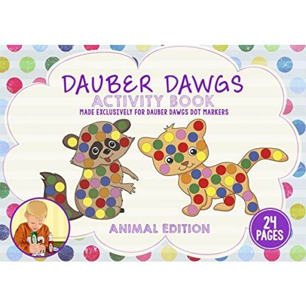 ANIMAL EDITION Dot Marker Activity Sheets 24 PAGES Made EXCLUSIVELY for Dauber Dawgs Dot Markers / Bingo Daubers with Free PDF Book Download - intl