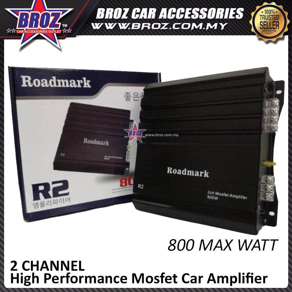 Broz Roadmark R2 2 Channel High Performance Mosfet Car Amplifier 800 Max Watt
