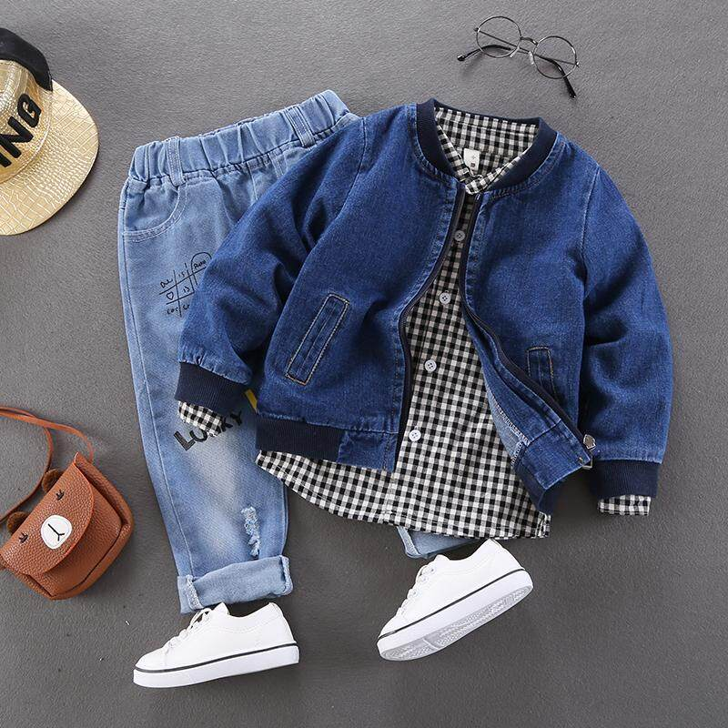 3eb585296901 Childrenswear Boys' Denim Jacket 2019 Spring New Style Korean Style Children  Leisure Tops Baby Spring