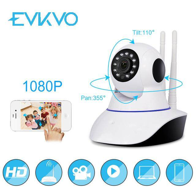 EVKVO 360eyes APP TF Card Alarm HD FULL 1080P IP Camera Wireless Home Security Surveillance Wifi