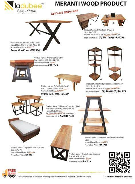 Ayuni (Meranti Finger Joint Wood Side Table)