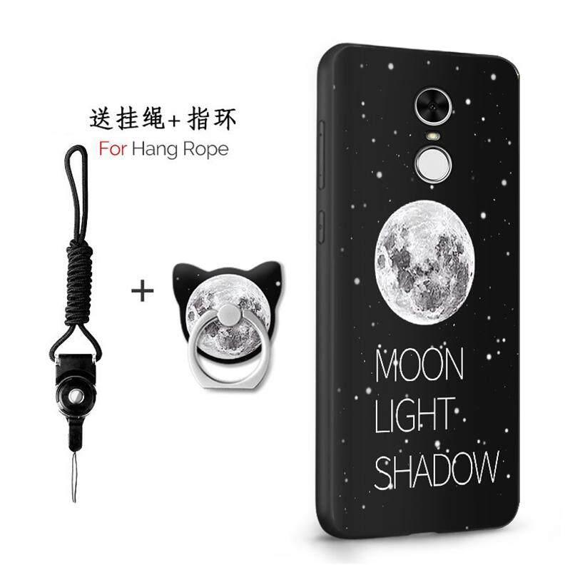 Untuk Xiaomi Redmi Note 4X32 GB/5.5 Inch Case 3D Relief Silikon TPU Berbahan Lembut Anti-Knock Shockproof kembali Kulit Penutup (1X Tali Gantung) + (1 X Sama Bracket)