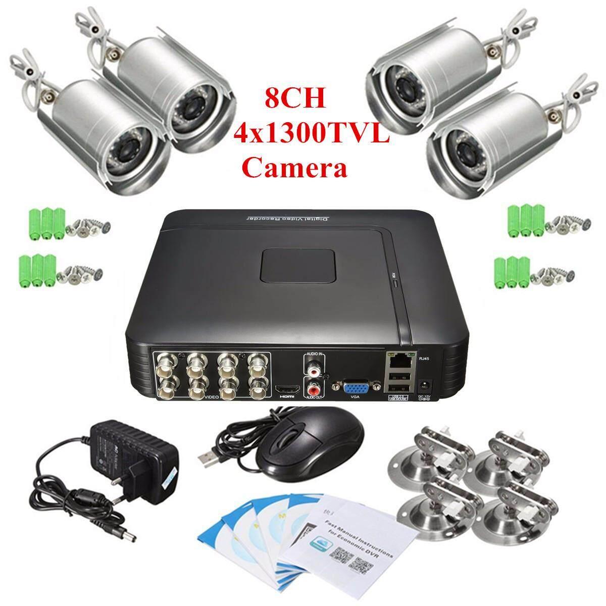 H.264 8ch Cctv Dvr 1300tvl Surveillance Security System With 4 Ir Night Camera - Intl By Audew.
