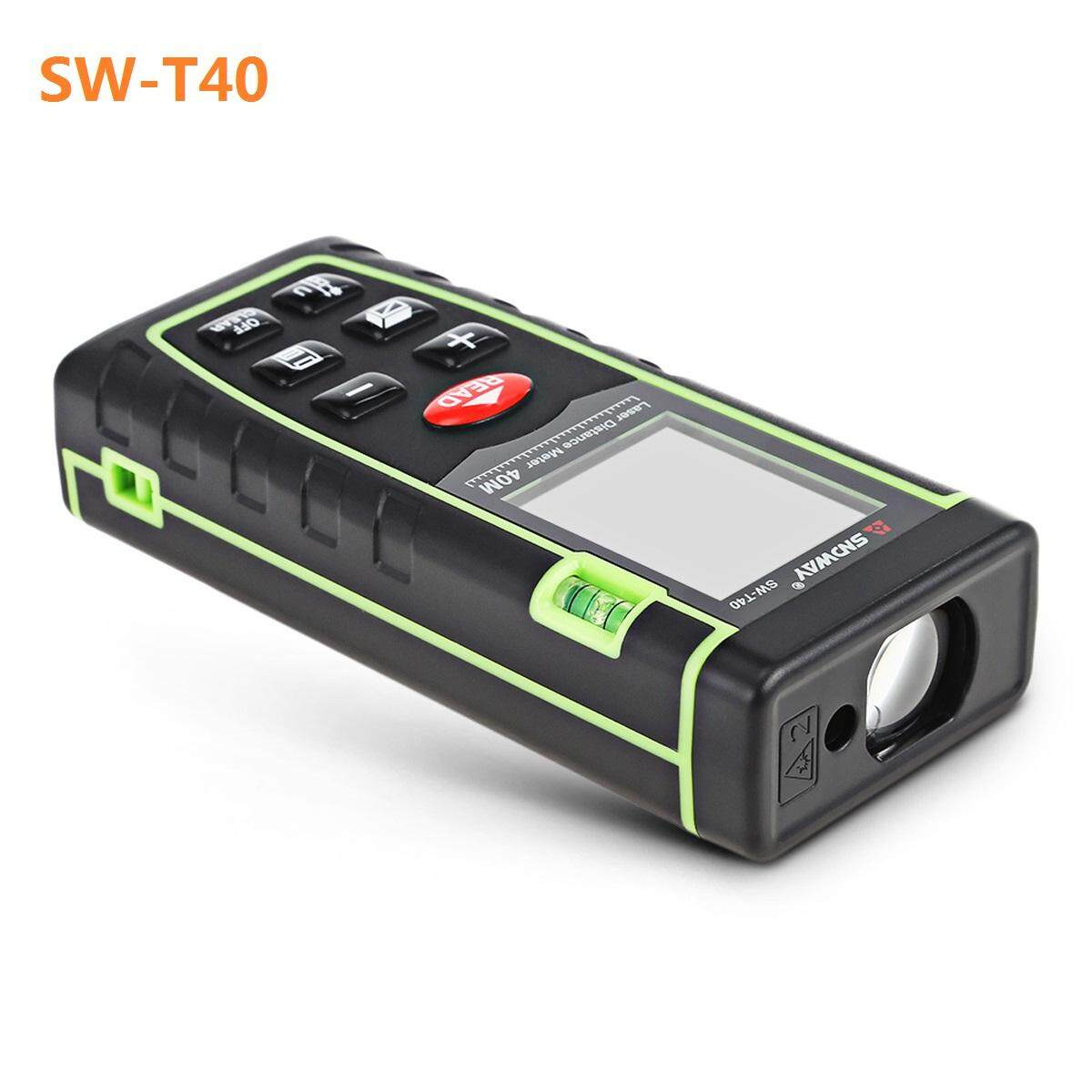 SNDWAY Laser Rangefinder Roulette 40M 60M 80M 100M Laser Distance Meter Laser Distance Meter Ruler Measuring