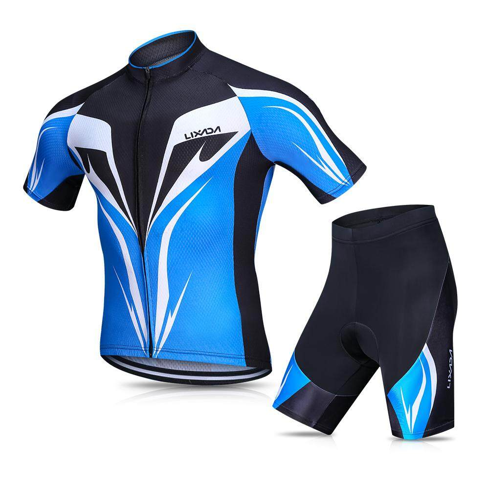 Lixada Men s Cycling Jersey Set Breathable Quick-Dry Short Sleeve Biking  Shirt with Gel Padded 70cad0a0f
