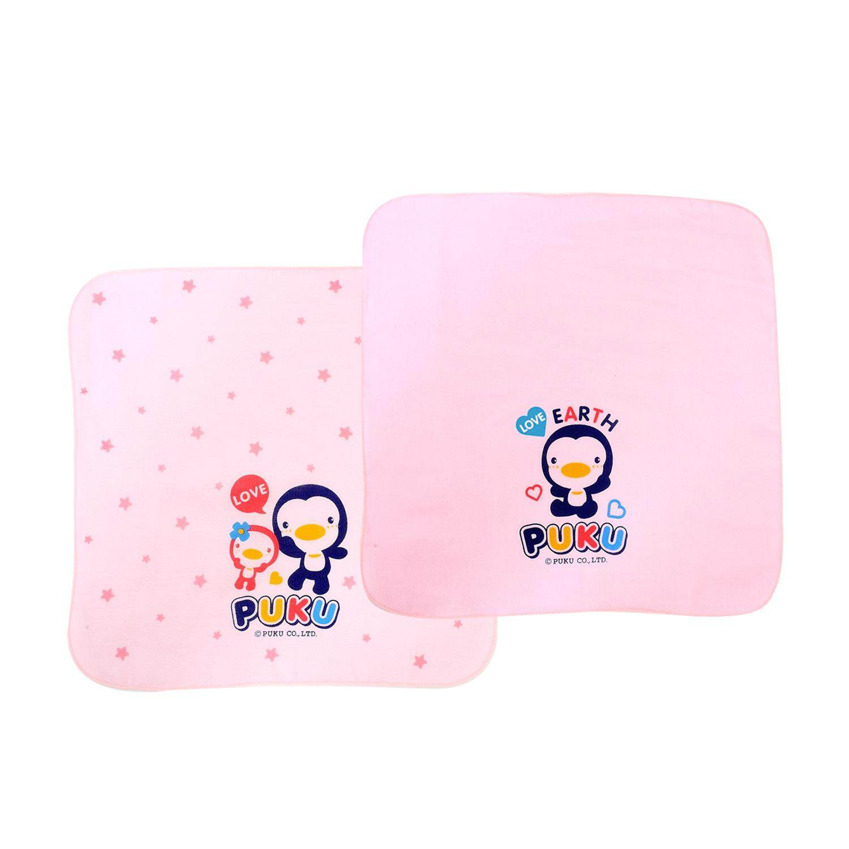 Puku Baby Gauze Handkerchief 30*30cm (Pink) 2pcs