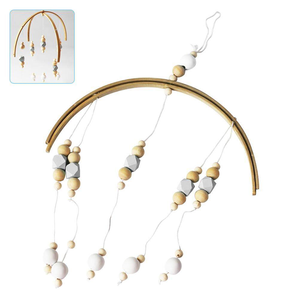 YUESHUNBUHA Nordic Style Wooden Beads Pendant Wind Chime Kids Room Decor Wall Hanging Photography Room Ornaments - intl